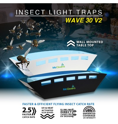 Insect Light Trap -McQwin Wave 30 v2 Sticky Flying Insect Trap