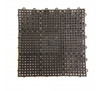 1ft x 1ft A Mat Black Interlocking