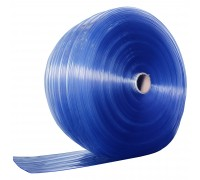 Ribbed Clear Blue PVC Strip Roll 200mm x 2mm x 50m