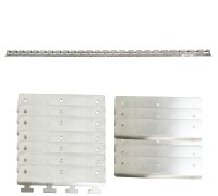 4' Heavy Duty CN PVC Curtain Rail with 8 Hangers Set