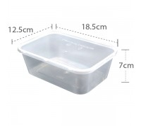 OK 1000 Rect Cont with Lid - 250PCS