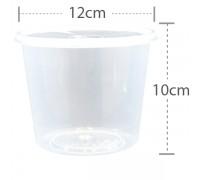 CB R30 Round Container with Lid - 500PCS
