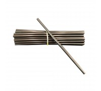 "8"" (6mm) Straight Straw Black - 10,000PCS"