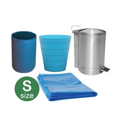 "(S) Garbage Bag 47cm x 54cm (18.5"" x 22"") (Blue)"
