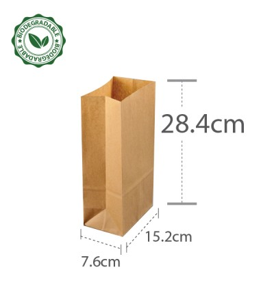 Brown Paper Bag 6 40gsm (L152xW76xH284) - 1000PCS