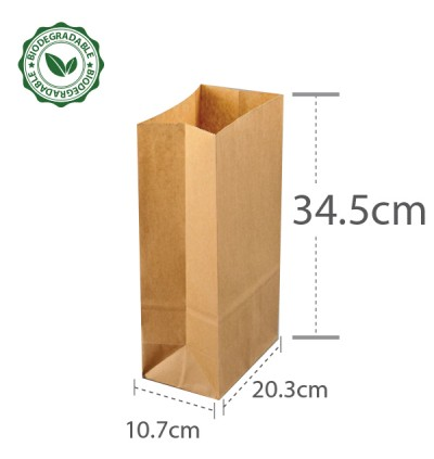 Brown Paper Bag 8 75gsm (L203xW107xH345) - 500PCS