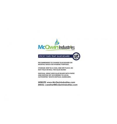 Sticky Glueboard x 24pcs - McQwin Iguana & Waterwheel