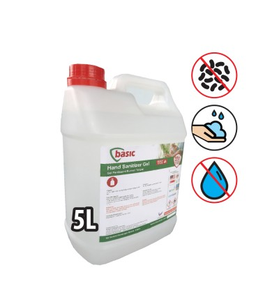 McQwin Basic Alcohol Based Gel Hand Sanitizer - 5L