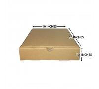"""Pizza Box 10"""" x 10"""" x 1.5"""" (Brown) - 50PCS"""
