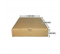 """Pizza Box 12"""" x 12"""" x 1.5"""" (Brown) - 50PCS"""